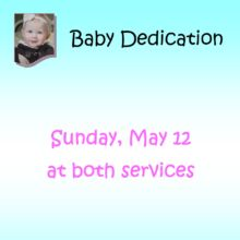 Baby Dedication 2019